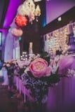 婚礼花和装饰 库存图片