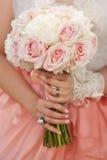 婚礼花束特写镜头 免版税图库摄影