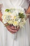 婚礼花束特写镜头 免版税库存照片