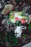 婚礼花束由牡丹制成 库存照片