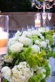 婚礼花的布置 免版税库存照片