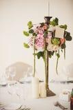 婚礼花的装饰 库存照片
