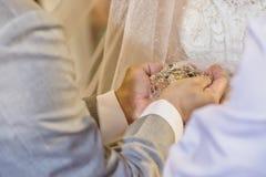婚礼花,新郎,新娘 库存照片