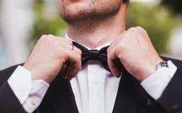 婚礼蝶形领结 库存图片