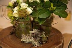 婚礼表花卉中心部分 库存图片