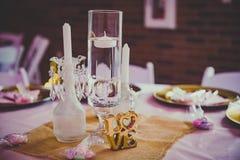 婚礼表装饰 图库摄影
