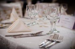 婚礼表设置 免版税库存图片