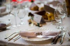 婚礼表设置 库存图片