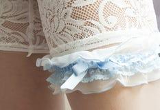 婚礼袜带 免版税库存照片