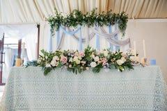 婚礼装饰五颜六色的花, 库存照片