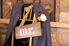 婚礼装饰先生和Sign夫人 免版税库存图片