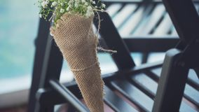 婚礼装饰在宴会大厅里 影视素材