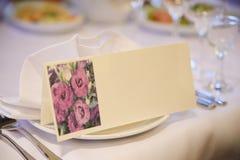 婚礼装饰桌设置 免版税图库摄影