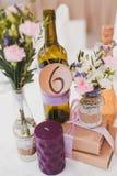 婚礼装饰桌 库存图片