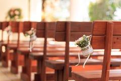 婚礼装饰爱教会 库存图片