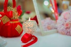 婚礼装饰,蜡烛 库存图片