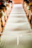 婚礼走道 免版税图库摄影