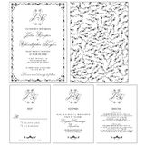 婚礼邀请卡片与上升了 免版税图库摄影