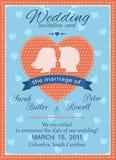 婚礼邀请卡片 向量例证