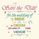 婚礼邀请印刷术 库存照片