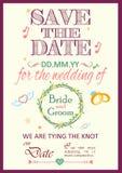 婚礼邀请印刷术 库存图片