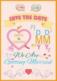 婚礼邀请印刷术 图库摄影