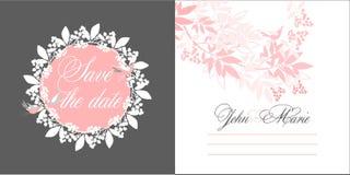 婚礼邀请模板 库存照片