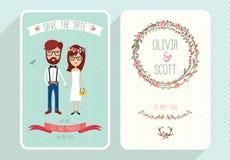 婚礼邀请集合 免版税图库摄影