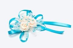 婚礼钮扣眼上插的花 库存图片