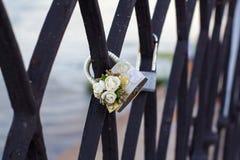 婚礼锁 免版税库存图片