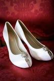 婚礼鞋子 库存照片