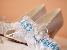 婚礼鞋子 免版税图库摄影