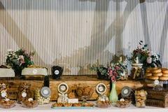 婚礼食物鲜美想法的开胃菜 免版税库存图片