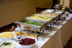 婚礼食物 免版税库存图片