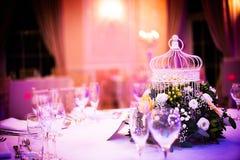 婚礼餐位餐具,颜色 免版税库存照片