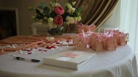 婚礼餐桌装饰品 影视素材