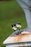 婚礼香宾玻璃 免版税库存照片