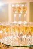 婚礼香槟玻璃 库存图片