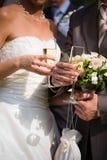 婚礼香槟 免版税库存照片