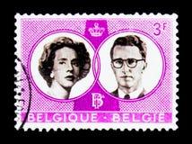 婚礼鲍德温和法维奥拉, serie,大约1960年 库存照片
