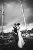 婚礼,游艇,帆柱 图库摄影