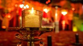 婚礼&党的蜡烛光 免版税库存图片
