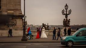 巴黎婚礼 免版税图库摄影