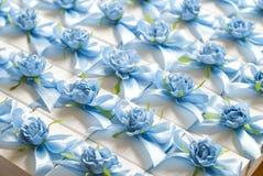 婚礼bonbonniere,当前箱子 客人的结婚礼物 免版税库存图片