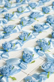 婚礼Bonbonniere 当前的配件箱 客人的结婚礼物 免版税图库摄影