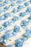 婚礼Bonbonniere 糖果箱子,当前箱子 客人的结婚礼物 库存照片