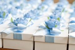 婚礼Bonbonniere 糖果箱子,当前箱子 客人的结婚礼物 免版税库存照片