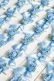 婚礼Bonbonniere 糖果箱子,当前箱子 客人的结婚礼物 免版税库存图片