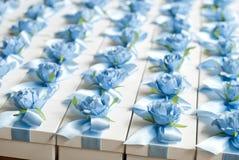 婚礼Bonbonniere 糖果箱子,当前箱子 客人的结婚礼物 库存图片