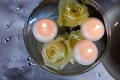 婚礼canddle 库存图片